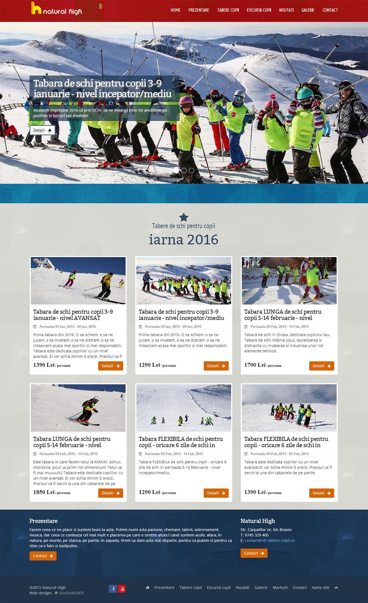 Lectii de schi si excursii pentru copii